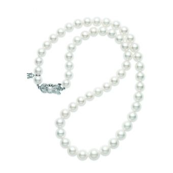 18 Inch Akoya Cultured Pearl Graduated Strand – 18K White Gold Clasp