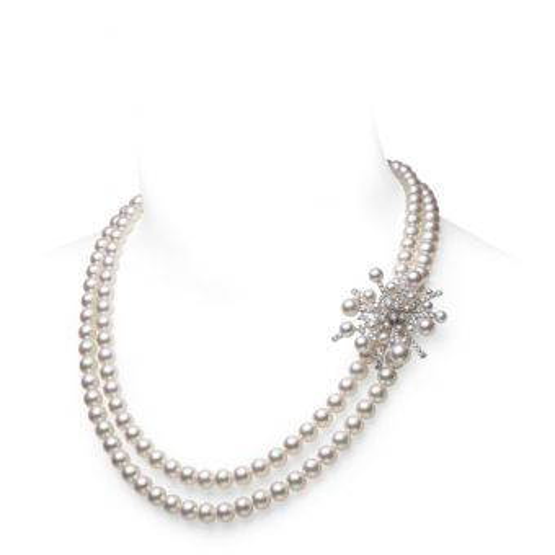A World of Creativity Splash Double Strand Necklace