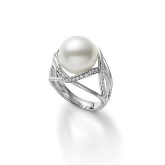 M Collection White South Sea Cultured Pearl Ring