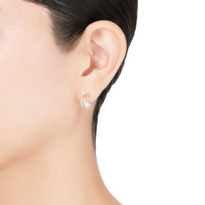 Akoya Cultured Pearl Earrings in 18K White Gold