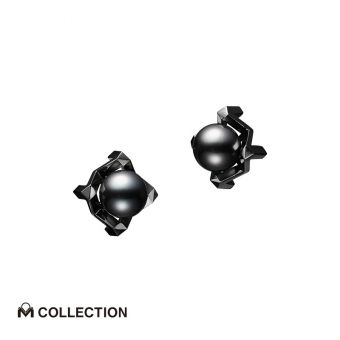 Passionoir M Collection Black South Sea Cultured Pearl Earrings