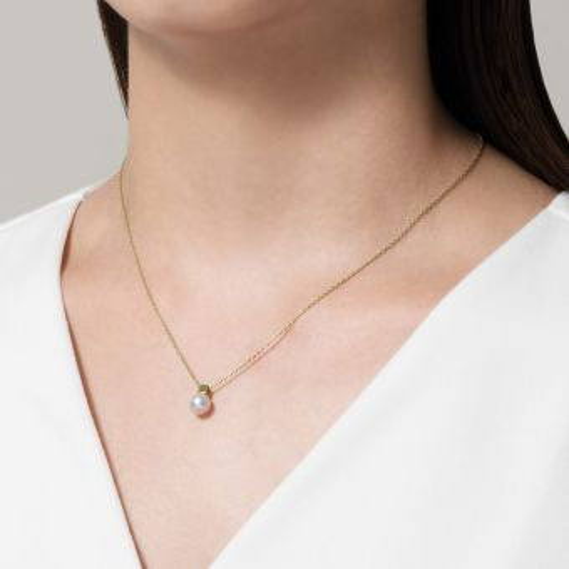 Akoya Cultured Pearl Pendant in 18K Yellow Gold
