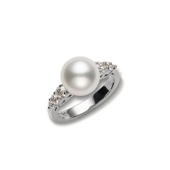 Morning Dew White South Sea Cultured Pearl Ring - White Gold