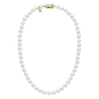 16 Inch Akoya Cultured Pearl Strand Necklace – 18K Yellow Gold Clasp