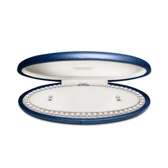 18 inch Akoya Cultured Pearl Two-Piece Gift Set – 18K White Gold